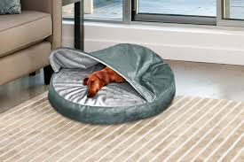 Cave Beds For Dogs Furhaven Microvelvet Snuggery Orthopedic Dog Cave Bed Pet Bed Ebay