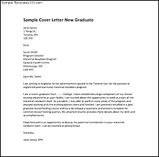 new graduate nursing cover letter sample sample cover letter for