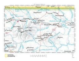 Usa River Map by Milk River Peoples Creek Drainage Divide Area Landform Origins In