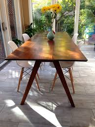 white mid century dining table top langley street camille 5 piece walnut mid century dining set