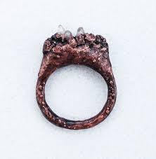 electroforming copper rock garden ring electroformed copper by arcyjinx on