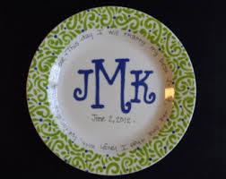 monogrammed plate monogrammed plate etsy