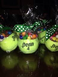 tennis ball gift favors for a tennis themed high graduation