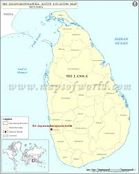 Map Of Sri Lanka Where Is Sri Jayawardenapura Kotte Location Of Sri