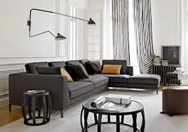 Striped Living Room Curtains by Black And White Striped Living Room Black Puffy Cushion Black