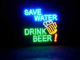 Large Save Water Drink Beer Motion Led Neon Sign Bar Pub Mancave