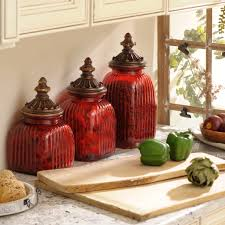 light up your kitchen with red kitchen canisters wigandia