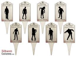 free zombie printable perfect for haunted house decorations