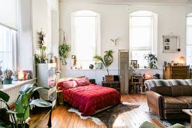 eclectic collector apartment therapy tour a vintage filled studio apartment in a former church