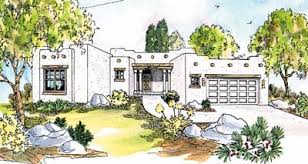 Santa Fe Style House Santa Fe Style House Plans Plan 17 310
