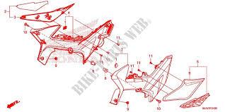 siege honda couvercle lateral moulure de siege frame cb500xag 2016 cb 500 moto
