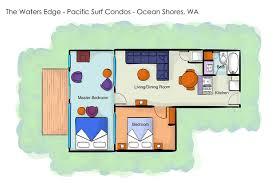 ocean shores floor plan waters edge condo vacation rental condo pacific surf condos ocean