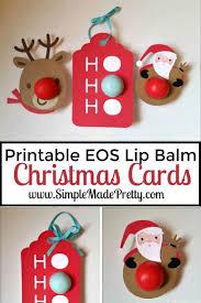printable christmas cards for mom printable christmas themed eos lip balm cards eos lip balm
