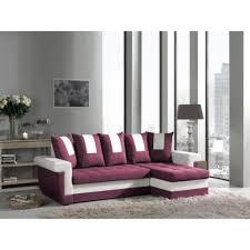 canapé d angle couleur prune canapé d angle convertible prune blanc tulum achat vente canape