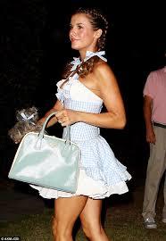 Dorothy Toto Halloween Costume George Clooney U0027s Elisabetta Canalis Kisses Husband Brian Perr