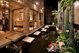 designs ideas modern asian style home with modern koi pond and