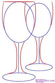 how to draw wine glasses step 2 art design pinterest wine