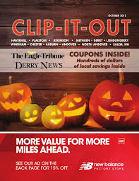 halloween city seabrook clip it out coupon book october 2015 special sections