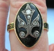 mourning ring 1786 black enamel fleur de lis mourning ring of mourning