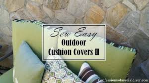 Patio Furniture Slip Covers by Replacement Slipcovers For Patio Cushions How To Make A No Sew