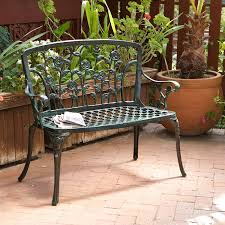 Small Metal Patio Table by Amazon Com Best Selling Saint Kitts Cast Aluminum Bench Green