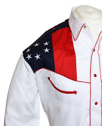 Embroidered American Flag Rockmount American Flag And Eagle Embroidered Western Cowboy Shirt