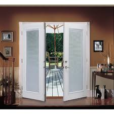 Exterior Single French Door by Shop Reliabilt 6 U0027 Reliabilt French Patio Door Steel Blinds
