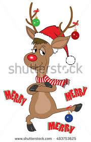 Dancing Reindeer Christmas Decorations by Dancing Reindeer Lizenzfreie Bilder Und Vektorgrafiken Kaufen