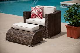 resin wicker chair and ottoman u2014 all home design solutions
