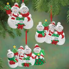 personalized snow family ornament walter