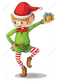 christmas elves illustration of a christmas royalty free cliparts vectors