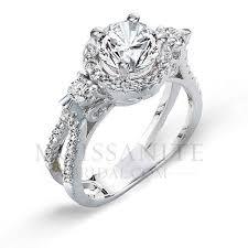 amazing engagement rings amazing moissanite diamond three engagement ring
