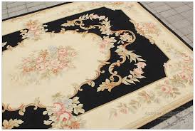 Pink And Black Rugs 5x8 Aubusson Area Rug Shabby French Chic Home Decor Wool Carpet