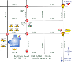 Palmetto Florida Map by Schedule U0026 Directions