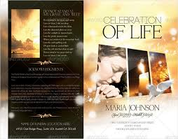in loving memory powerpoint template funeral brochure templates