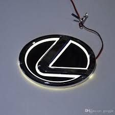 lexus symbol car styling special modified white blue 5d rear badge emblem