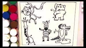 animals coloring pages for kids zoo animal colouring book video