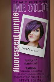 Wash Hair Before Color - amazon com spray on wash out purple hair color temporary