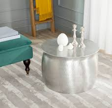 round silver accent table fox5516a accent tables furniture by safavieh