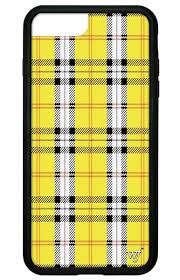 what is tartan plaid yellow plaid iphone 6 7 8 plus case wildflower cases