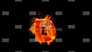 fire letter d uppercase stock animation 836550