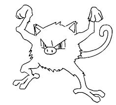 coloring pages pokemon mankey drawings pokemon