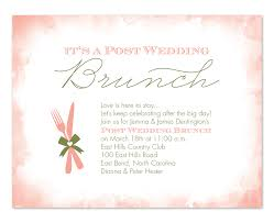 brunch invitation wording post wedding brunch party