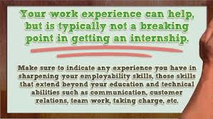 How To Write Internship In Resume Tips For Internship Resumes Youtube