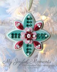 handcrafted polymer clay ornament by myjoyfulmoments on etsy ho