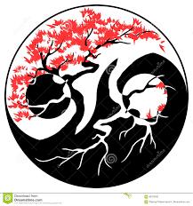 bonsai yin yang stock vector illustration of concept 86755050