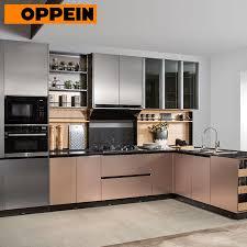 modern kitchen cabinet design for small kitchens item oppein metal color l shape modern kitchen designs for small kitchens