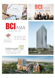 architect indomegah regains bci awards in 2016 as one of the top