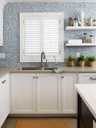 Kitchen Window Backsplash Creative Kitchen Window Treatments Hgtv Pictures U0026 Ideas Hgtv