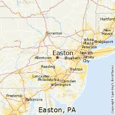 easton map best places to live in easton pennsylvania